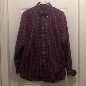 Jos. A. Bank plaid button down shirt